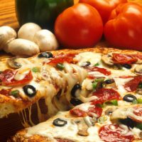 Pizza Mushrooms And Tomatoes